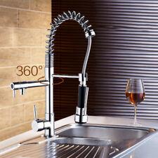 US Flexible Swivel Spout Kitchen Sink Faucet Pull Down Spray Mixer Brass Tap