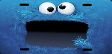 Cookie Monster Sesame Street Officially Licensed Metal License Plate Sign NEW