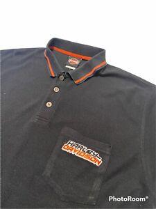 vintage Y2k Harley Davidson Polo T Shirt, XL XXL Orlando Florida