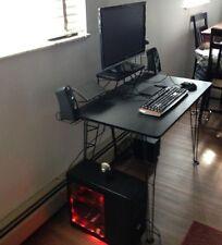 Gaming Computer Desk Video Game Storage Stand Study Basket Monitor Shelf Trays