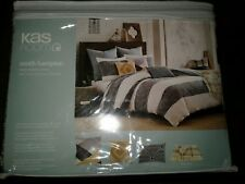 KAS Australia South Hampton TWIN Duvet Cover Bedding Blue White Stripe NEW