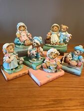 Cherished Teddies, Nursery Rhyme Set - 6 Bears And Story Book Displayer W/Boxes