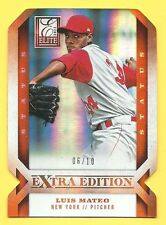 2013 Elite Extra Edition Luis Mateo RC #6/10 Status Die Cut Mets Rookie