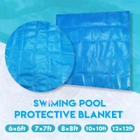 6/7/8/10/12ft Swimming Pool Hot Tub Cover Blanket Anti-UV Square/Round Outdoor