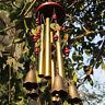 Haus Garten Deko Windspiel 4 Klangröhre Klangspiele Rostschutz Glück Klangspiel