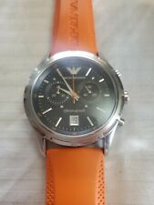 Emporio Armani Chronograph Watch Swiss made AR-5849 new battery Great condition