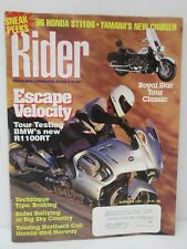 Rider Magazine December 1995 Touring Street Motorcycling At Its Best Motorcycle