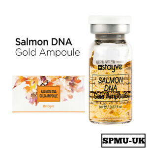 Stayve Salmon DNA Gold Ampoule Brightening Glow Whitening Stem Cell MTS Single