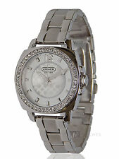 NWT WOMENS COACH (14501699) MINI BOYFRIEND SILVER GLITZ WATCH