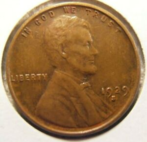 1929 S Lincoln Cent, Beautiful AU coin, Only 50 million minted, (29SX2)