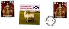 Transcamster Bog, Scotland: Acts of Union mint stamp + first day cover