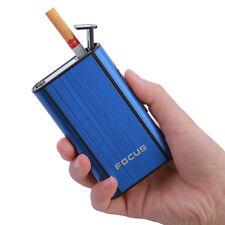 Automatic Pocket Cigarette Case Aluminum Ejection Holder Lighter Metal Box
