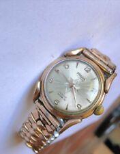 Montre PRECIA 17 jewels-EB SUISSE-Incabloc-lunette or laminée 20 M-A réparer-