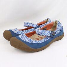 KEEN Harvest Womens Sz 11 US 43 EU Blue Leather Aztec Mary Jane Comfort Shoes