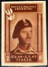 Corpo Polacco 1946 n. 4ac varietà doppia stampa * (m770)