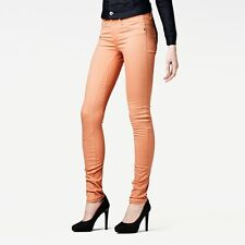 G-Star Raw Jeans 'ARC 3D SUPER SKINNY COJ WMN' W27 L32 AU9 Pumpkin NEW Womens