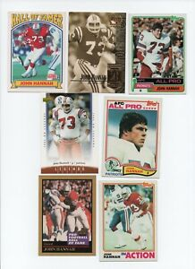 ALABAMA CRIMSON TIDE NEW ENGLAND PATRIOTS HALL OF FAMER JOHN HANNAH LOT