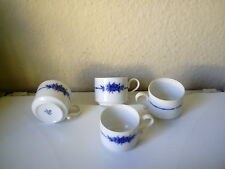 "4 !! Heinrich Kaffeetassen ""Blaue Rose,Echt Kobalt"", selten,Gebraucht, sehr gut"