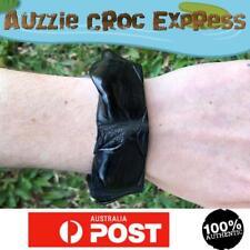 Authentic Australian Saltwater Crocodile Leather Wrist band/Bracelet Black