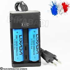 CHARGEUR RS-93 + 2 PILES ACCU RECHARGEABLE 18650 3.7v 2000mAH BATTERY BATTERIE