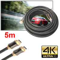 1/1.5/2/3/5m Ultra HD HDMI Cable v2.0 High Speed+ Ethernet HDTV 2160p 4K 3D GOLD