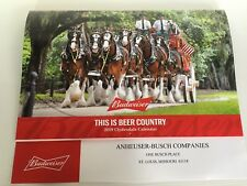 """2019 BUDWEISER CLYDESDALES ANNUAL CALENDAR   """"THIS IS BEER COUNTRY"""""""