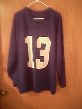 New listing McCarthy Sorensen Athletic Inc. blue jersey, adult Xl, # 13 on front & back, pol