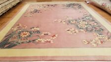 8 x 10 Hand Knotted French Aubusson 100% wool Area rug