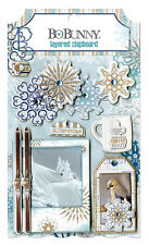 Bo Bunny Whiteout Collection Layered Chipboard Stickers
