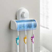 Toothbrush Spinbrush Suction Holder Wall Mount Stand Rack Home Bathroom 5 Set