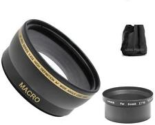 52mm Wide Angle Lens + Tube Adapter for Kodak EasyShare Z710 ZD710 Z650 Z740