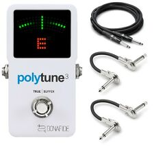 New TC Electronic Polytune 3 Polyphonic Guitar Tuner Pedalw/ Bonafide Buffer