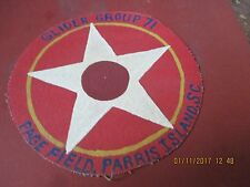 WWII USMC GLIDER GROUP 71 PAGE FIELD PARRIS ISLAND SC  JACKET  PATCH