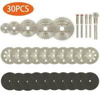 30PCS Mini Diamond Cutting Discs Wheel Tool Set + Drill Bit For Rotary Tool UK