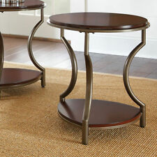 Lovely Cherry Transitional End Tables