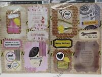 2 x A4 Debbi Moore Tools Of The Trade Die-Cut Toppers & Sentiments 3 to Choose