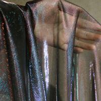 Mermaid Glitter Mesh Fabric Sheer Organza Gauze Gradient Dress Making DIY Sewing
