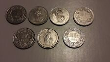 2-Franken-Münzen  Sammlerstücke Geschenk Schweiz Souvenir Börse Ostern Geld