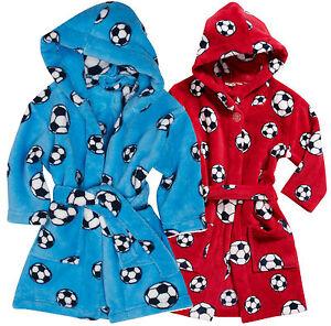 Kinder Bademantel Fussball 74-152 Playshoes Ökotex Fleece Polyester Morgenmantel