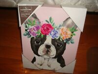 "New Clementine French Bulldog Pink Canvas Wall Art 8"" x 10"""