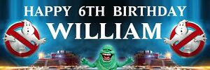 2 Personalised Ghostbusters Birthday Banners Party Posters Any Name
