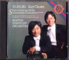 Yo-Yo MA: R. STRAUSS Don Quixote SCHOENBERG Cello Concerto SEIJI OZAWA CD CBS
