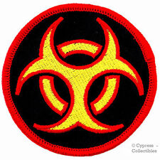 BIOHAZARD SYMBOL embroidered iron-on PATCH MULTI-COLOR NUCLEAR ZOMBIE LOGO