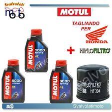 TAGLIANDO FILTRO OLIO + 3LT MOTUL 5000 10W40 HONDA CBR 600 RR 2005