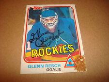 Glenn Resch NHL 1981 Topps #85 Rockies Islanders Signed Authentic Autograph K