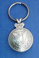 Western Cowboy Jewelry Antique Eagle Silver Dollar Repro. Concho Key Ring Kit