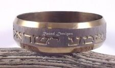 Shema Israel Judaica Gold Anello in acciaio inossidabile la cabala gioielleria ebraica regalo