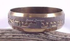 Shema Israel Judaica Gold Stainless Steel Ring Kabbalah Jewelry Hebrew Gift