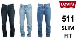 Genuine LEVIS MENS 511 Slim Fit Levi Jeans Denim Blue, Black, Grey