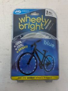 Wheely Bright Ride & Shine LED Blue Bike Lights  2 Pack NEW A62